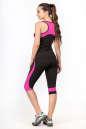 Лосины для фитнеса черного с розовым цвета No7|интернет-магазин vvlen.com