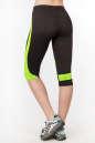 Бриджи для фитнеса черного с зеленым цвета 2362.67 No3|интернет-магазин vvlen.com
