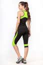 Бриджи для фитнеса черного с зеленым цвета 2362.67 No7|интернет-магазин vvlen.com