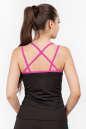 Майка для фитнеса черного с розовым цвета 2356.67 No2|интернет-магазин vvlen.com