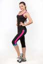 Майка для фитнеса черного с розовым цвета 2356.67 No4|интернет-магазин vvlen.com