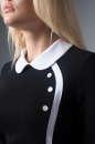 Офисное платье футляр черного цвета 1829.1 No2|интернет-магазин vvlen.com