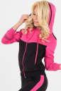 Спортивная кофта черного с розовым цвета No1|интернет-магазин vvlen.com