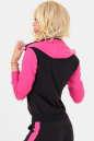 Спортивная кофта черного с розовым цвета No2|интернет-магазин vvlen.com