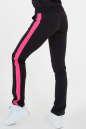 Спортивные брюки черного с розовым цвета 165|интернет-магазин vvlen.com
