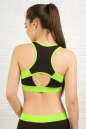 Топ для фитнеса черного с зеленым цвета 2316.67 No2|интернет-магазин vvlen.com