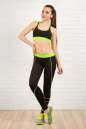 Топ для фитнеса черного с зеленым цвета 2316.67 No3|интернет-магазин vvlen.com