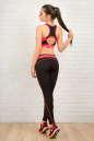 Топ для фитнеса черного с розовым цвета No5|интернет-магазин vvlen.com