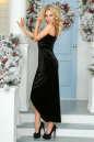 Вечернее платье комбинация черного цвета No2|интернет-магазин vvlen.com