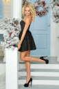 Коктейльное платье с расклешённой юбкой черного цвета No3|интернет-магазин vvlen.com