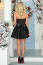 Коктейльное платье с расклешённой юбкой черного цвета No4|интернет-магазин vvlen.com
