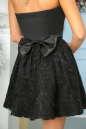 Коктейльное платье с расклешённой юбкой черного цвета No5|интернет-магазин vvlen.com
