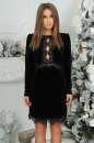 Коктейльное платье футляр черного цвета 2473.26 No0 интернет-магазин vvlen.com