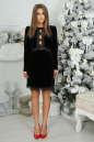 Коктейльное платье футляр черного цвета 2473.26 No1 интернет-магазин vvlen.com
