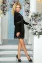 Коктейльное платье футляр черного цвета 2473.26 No2 интернет-магазин vvlen.com