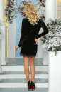 Коктейльное платье футляр черного цвета 2473.26 No3 интернет-магазин vvlen.com