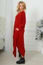 Платье оверсайз бордового цвета 2424-1.92 No1|интернет-магазин vvlen.com