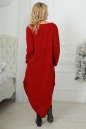 Платье оверсайз бордового цвета 2424-1.92 No2|интернет-магазин vvlen.com
