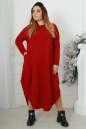 Платье оверсайз бордового цвета 2424-1.92 No3|интернет-магазин vvlen.com