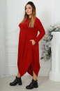 Платье оверсайз бордового цвета 2424-1.92 No4|интернет-магазин vvlen.com
