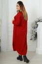 Платье оверсайз бордового цвета 2424-1.92 No5|интернет-магазин vvlen.com