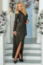 Вечернее платье с расклешённой юбкой черного цвета No1|интернет-магазин vvlen.com
