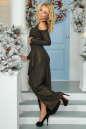 Вечернее платье с расклешённой юбкой черного цвета No3|интернет-магазин vvlen.com