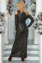 Вечернее платье с расклешённой юбкой черного цвета No4|интернет-магазин vvlen.com