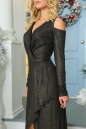 Вечернее платье с расклешённой юбкой черного цвета No5|интернет-магазин vvlen.com