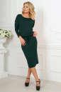 Повседневное платье футляр темно-зеленого цвета 2478.65 No1|интернет-магазин vvlen.com