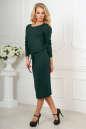 Повседневное платье футляр темно-зеленого цвета 2478.65 No2|интернет-магазин vvlen.com