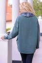 Худи оверсайз зеленого цвета  2405-1.79 No2|интернет-магазин vvlen.com