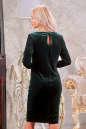 Коктейльное платье футляр зеленого цвета 2438.26 No3|интернет-магазин vvlen.com