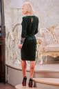 Коктейльное платье футляр зеленого цвета 2438.26 No4|интернет-магазин vvlen.com