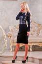 Коктейльное платье футляр синего цвета 2416.26 No2|интернет-магазин vvlen.com