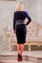 Коктейльное платье футляр синего цвета 2416.26 No3|интернет-магазин vvlen.com