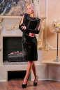 Коктейльное платье футляр черного цвета 2440.26 No1|интернет-магазин vvlen.com