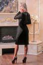 Коктейльное платье футляр черного цвета 2440.26 No2|интернет-магазин vvlen.com