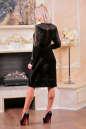 Коктейльное платье футляр черного цвета 2440.26 No3|интернет-магазин vvlen.com