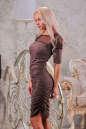 Коктейльное платье футляр капучино цвета 2437-1.86 No2|интернет-магазин vvlen.com
