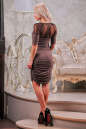 Коктейльное платье футляр капучино цвета 2437-1.86 No3|интернет-магазин vvlen.com