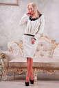 Коктейльное платье футляр молочного цвета No1|интернет-магазин vvlen.com