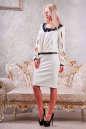 Коктейльное платье футляр молочного цвета No2|интернет-магазин vvlen.com