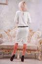 Коктейльное платье футляр молочного цвета No3|интернет-магазин vvlen.com