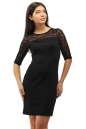 Коктейльное платье футляр черного цвета 2282.41 No0|интернет-магазин vvlen.com