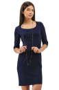 Офисное платье футляр синего цвета 2283.41|интернет-магазин vvlen.com