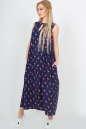 Летнее платье  мешок темно-синего цвета No1|интернет-магазин vvlen.com