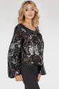 Блуза  черного с серебром цвета No1|интернет-магазин vvlen.com
