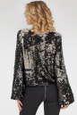Блуза  черного с серебром цвета No2|интернет-магазин vvlen.com