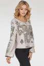Блуза  молочного с серебром цвета 412.113 No0|интернет-магазин vvlen.com